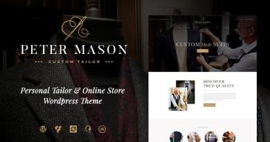 Peter Mason | Custom Tailoring and Clothing Store WordPress Theme 4