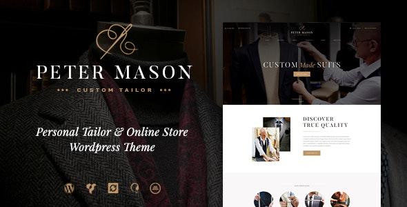 Peter Mason | Custom Tailoring and Clothing Store WordPress Theme 1