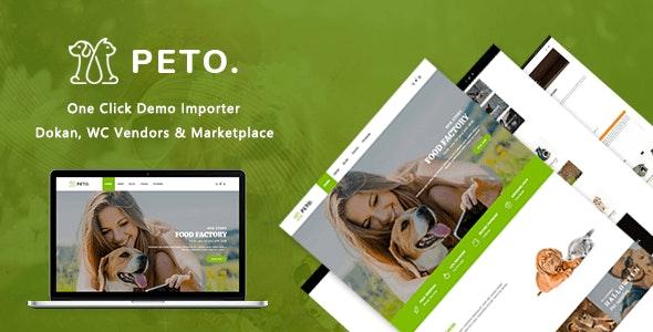 Peto   Animal and Pet Shop WooCommerce WordPress Theme 1