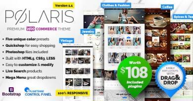 Polaris — Minimal & Powerful Multipurpose WooCommerce Theme 4