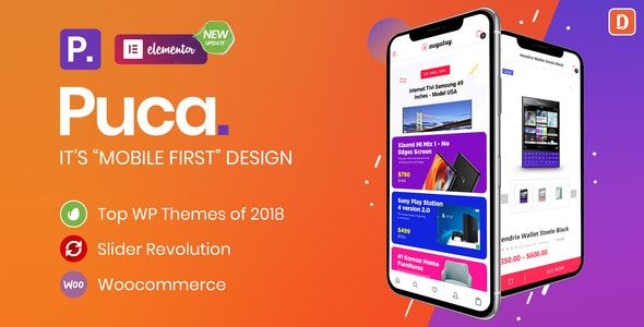 Puca - Optimized Mobile WooCommerce Theme 1