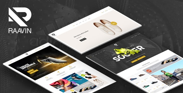 Raavin - Responsive WooCommerce WordPress Sport Shoes Theme 1