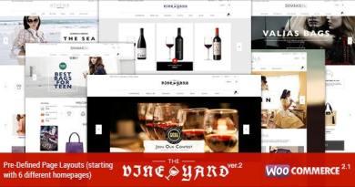Responsive WooCommerce Theme - WineStore 4