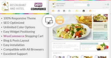 Restaurant - Responsive WooCommerce Theme 4