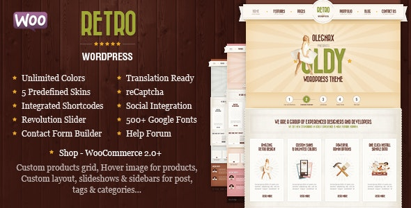Retro - Vintage WordPress Theme 1