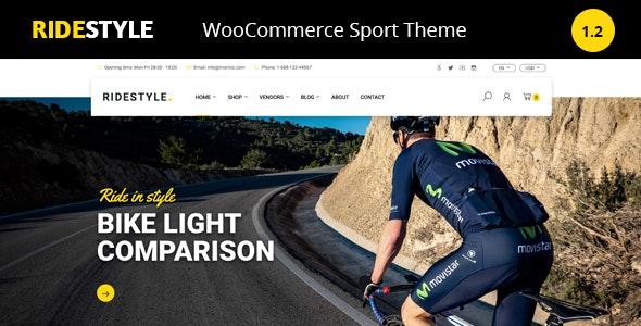 Ridestyle -Bike  Sport Store WooCommerce Theme 1