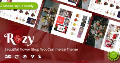 Rozy - Flower Shop WordPress WooCommerce Theme (4+ Indexes + Mobile Layouts Ready) 3