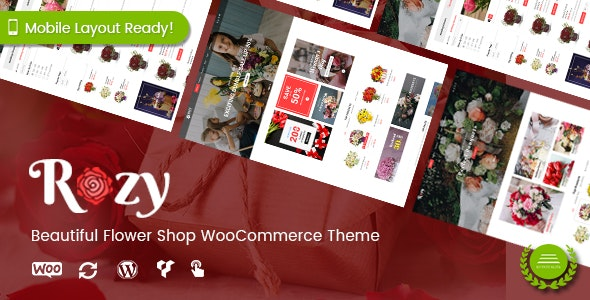 Rozy - Flower Shop WordPress WooCommerce Theme (4+ Indexes + Mobile Layouts Ready) 1