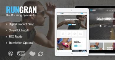 Run Gran | Sports Apparel & Gear Store WordPress Theme 2