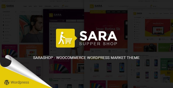 Sara - WooCommerce WordPress Market Theme 1