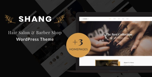 Shang - Hair Salon & Barber Shop WordPress theme 1