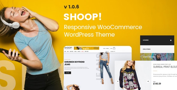 Shoop! - WordPress WooCommerce Shop Theme 1