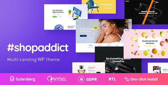 Shopaddict - WordPress Landing Pages To Sell Anything 1
