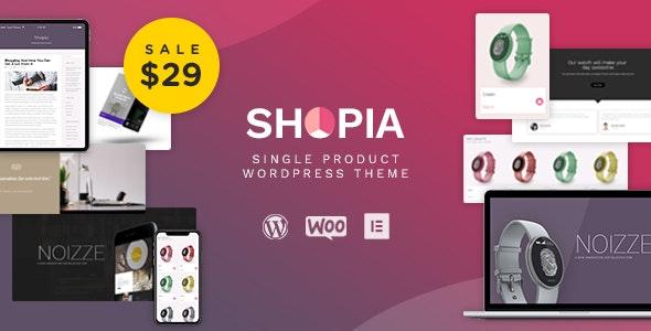 Shopia - Single Product WooCommerce WordPress Theme 3