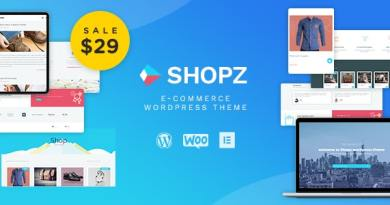 Shopz - eCommerce WordPress Theme 2