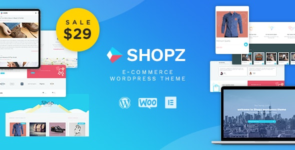 Shopz - eCommerce WordPress Theme 1