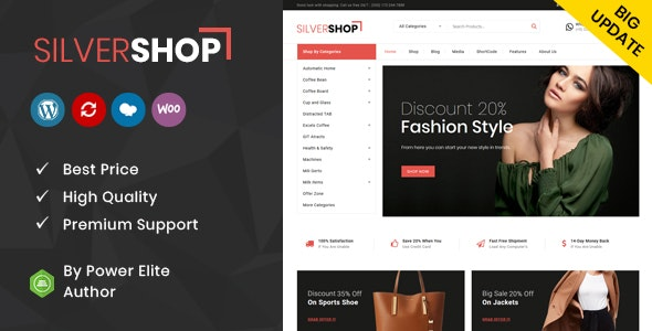 Silver Shop - Multipurpose WooCommerce Theme 1