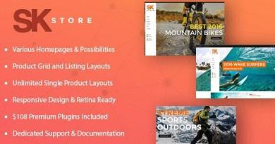 SK Store - Responsive WP theme for Sport and Athletes 3