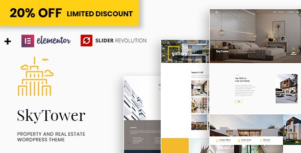 SkyTower - Real Estate and Construction WordPress Theme 3