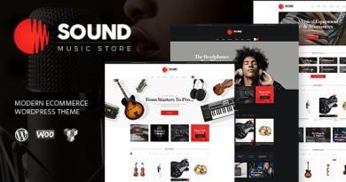 Sound | Musical Instruments Online Store WordPress Theme 48