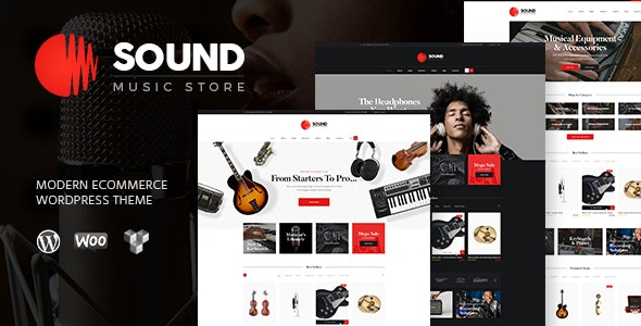 Sound | Musical Instruments Online Store WordPress Theme 4