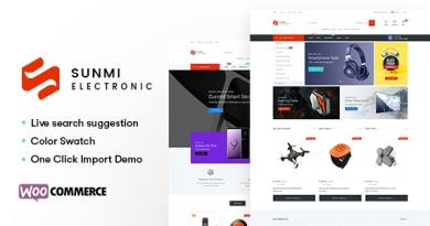 Sumi - Electronics WordPress Theme for WooCommerce (RTL supported) 2