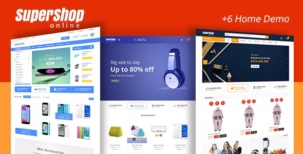 Super Shop - Market Store RTL Responsive WooCommerce WordPress Theme 1