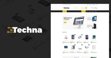 Techna - Electronics Shop WooCommerce Theme 2