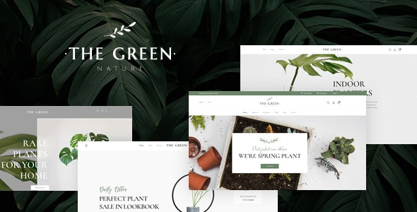 The Green - Houseplants & Gardening WordPress Theme 1