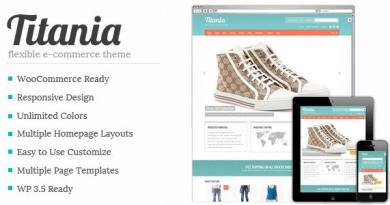 Titania - Flexible eCommerce Shop Theme 2