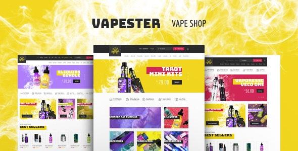 Vapester | Creative Cigarette Store & Vape Shop WooCommerce Theme 1