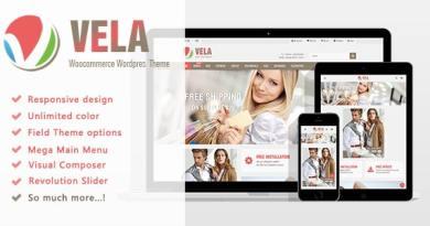 Vela - Multi-Purpose WooCommerce WordPress 4