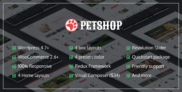 VG Petshop - Creative WooCommerce theme for Pets and Vets 1