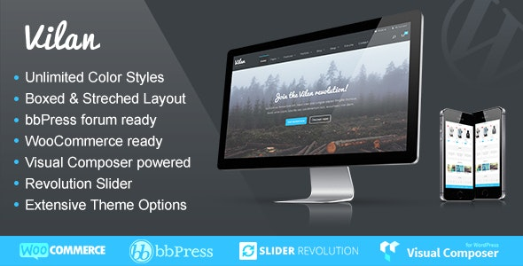 Vilan Corporate, Shop & Forum WordPress Theme 3