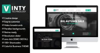 Vinty - WooCommerce Business WordPress Theme 2