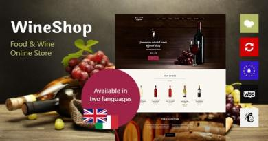 WineShop - Food & Wine Online Store WordPress Theme 3