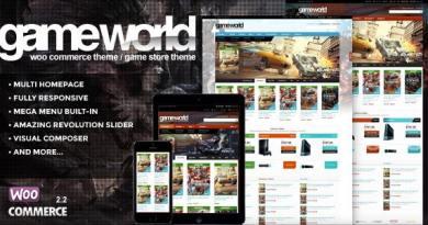 WooCommerce Game Theme - GameWorld 13