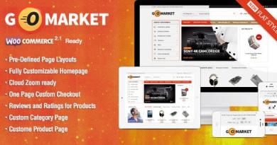 WooCommerce Supermarket Theme - GoMarket 3