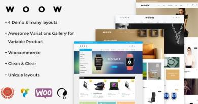 WOOW - Responsive WooCommerce Theme 4