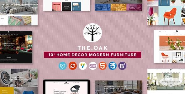 WordPress WooCommerce Theme for Furniture Decoration Design eCommerce Store | WP TheOak 2