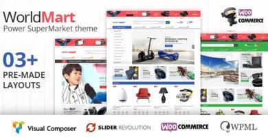 Worldmart - Electronics & Multipurpose WooCommerce WordPress Theme ( RTL supported ) 2