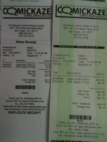 Custom Duplicate Receipts