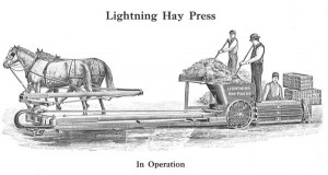 early baling machine
