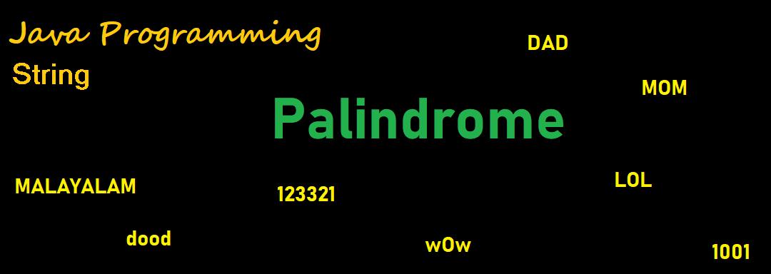 String Java Program: Palindrome