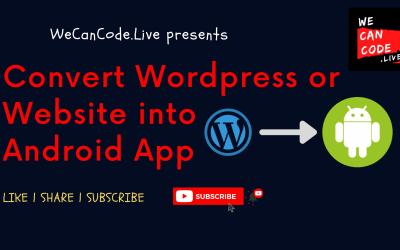 Make WordPress as Android App
