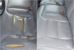 Before & After Leather Car Seat