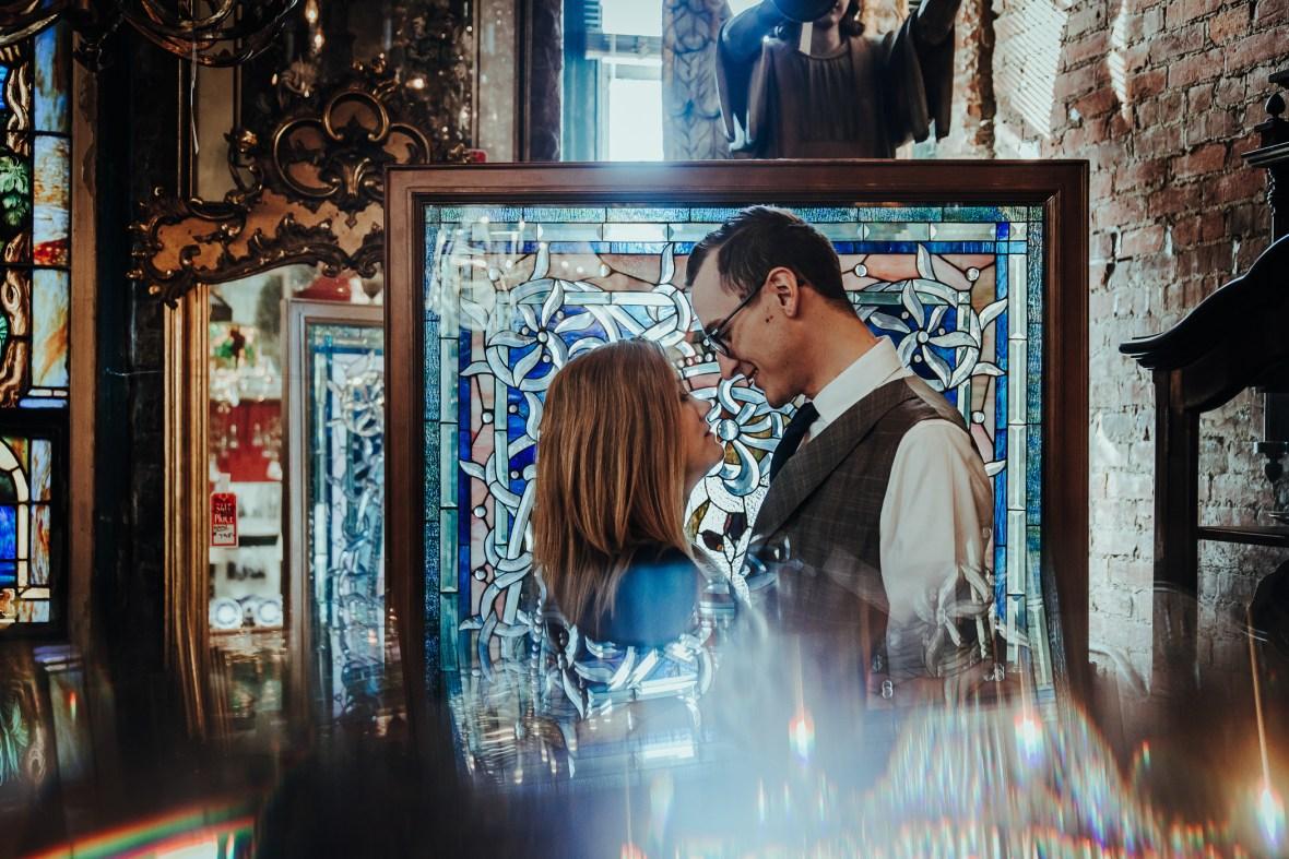 Joe Ley Antique Store Engagement