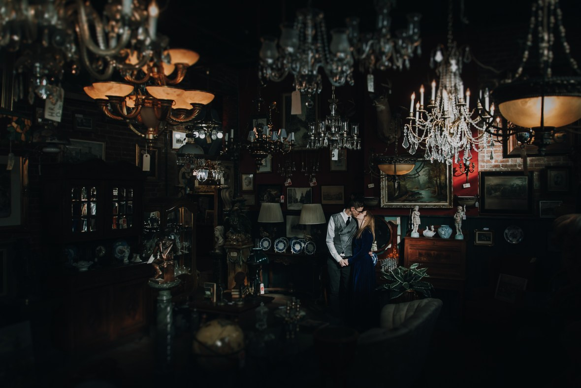 Joe Ley Antique Store Engagement