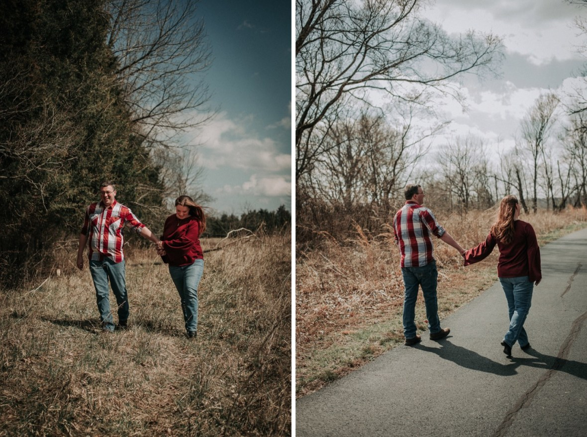 22_WCTM5538ab_WCTM5581ab_Woodsy_Rustic_Floyds_Park_Engagement_Broad_Parklands_Fork_Photos_of_Run_Louisville_Kentucky