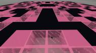 black pink landscape